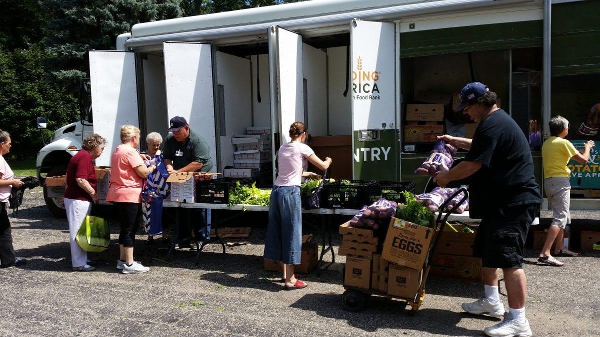 Church of the Mediator Mobile Food Pantry Volunteers