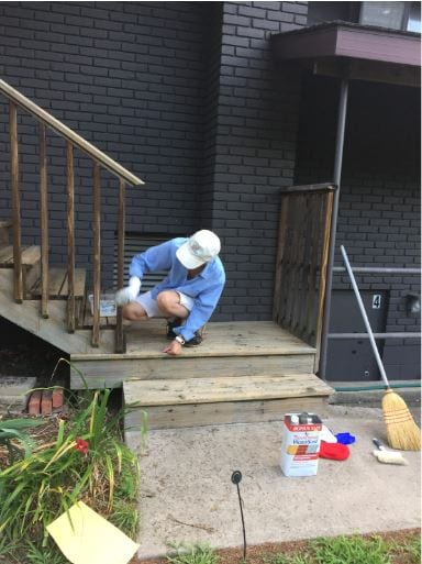 Back steps getting a clean up_July 2020