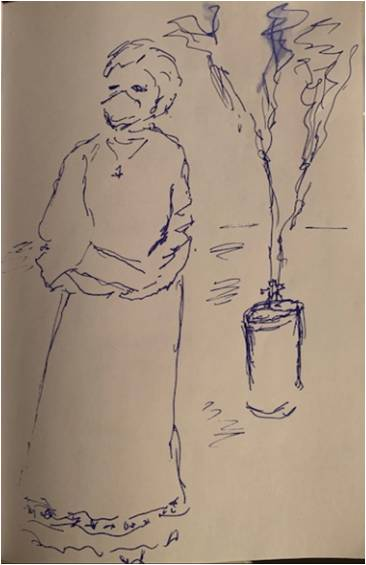 Click to view Phyllis Norris' sketches of Mediator's Celebration of New Ministry